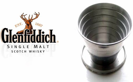 Glenfiddich telescopic whisky tumbler