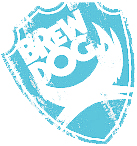 Brewdog logo light blue