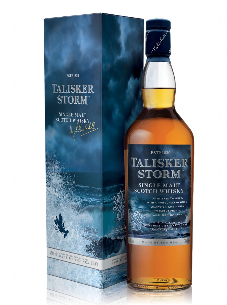 talisker storm bottle and carton