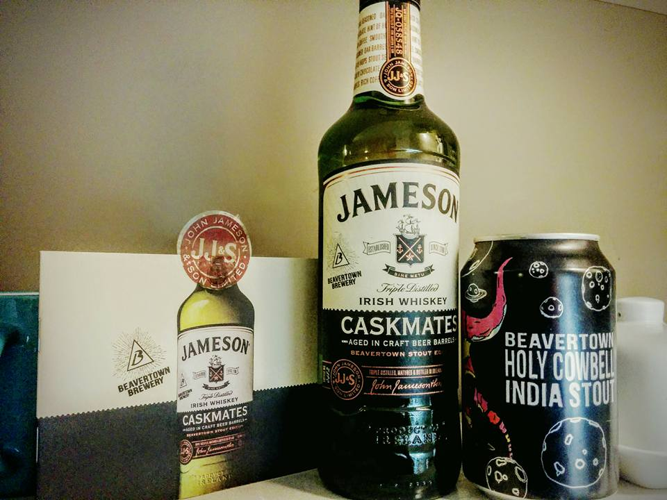 Caskmates bottle of whiskey and Beer